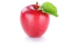 Της Apple φρούτων κόκκινο που απομονώνεται φρέσκο στο λευκό Στοκ Εικόνα