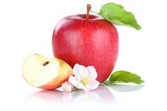 Της Apple φρούτων φέτα που απομονώνεται κόκκινη στο λευκό Στοκ Φωτογραφίες