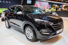 Της Hyundai Tucson αστικό αυτοκίνητο διασταυρώσεων SUV πνευμάτων συμπαγές Στοκ Εικόνες