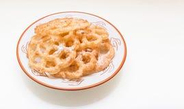 Της Kia shebakia μπισκότα λουλούδι-που διαμορφώνονται μαροκινά Στοκ Εικόνες