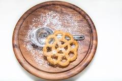 Της Kia shebakia μπισκότα λουλούδι-που διαμορφώνονται μαροκινά Στοκ εικόνα με δικαίωμα ελεύθερης χρήσης