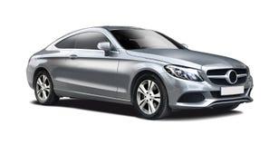 Της Mercedes S κατηγορίας όψη που απομονώνεται πλάγια στο λευκό στοκ εικόνες με δικαίωμα ελεύθερης χρήσης