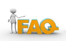 Τη λέξη FAQ (που υποβάλλεται συχνά τις ερωτήσεις) Στοκ φωτογραφίες με δικαίωμα ελεύθερης χρήσης