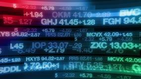 Τηλέτυπα χρηματιστηρίου - υπόβαθρο επίδειξης ψηφιακών στοιχείων διανυσματική απεικόνιση