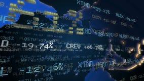 Τηλέτυπα χρηματιστηρίου Loopable απόθεμα βίντεο