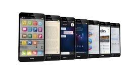 Τηλέφωνα κυττάρων με τα apps Στοκ εικόνες με δικαίωμα ελεύθερης χρήσης