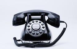Τηλέφωνο αναδρομικό με το άσπρο διάστημα Στοκ εικόνες με δικαίωμα ελεύθερης χρήσης