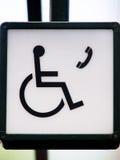 Τηλέφωνο για τους χρήστες αναπηρικών καρεκλών (1) στοκ φωτογραφία με δικαίωμα ελεύθερης χρήσης