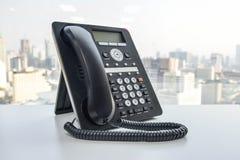 Τηλέφωνο γραφείων - τηλέφωνο IP Στοκ Εικόνες