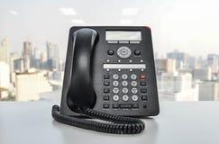 Τηλέφωνο γραφείων - τηλεφωνική τεχνολογία IP για την επιχείρηση Στοκ φωτογραφίες με δικαίωμα ελεύθερης χρήσης