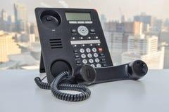 Τηλέφωνο γραφείων - τηλεφωνική τεχνολογία IP για την επιχείρηση Στοκ Εικόνα