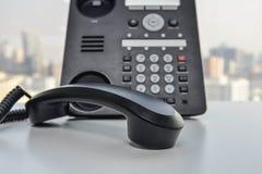 Τηλέφωνο γραφείων - τηλεφωνική τεχνολογία IP για την επιχείρηση Στοκ Φωτογραφία