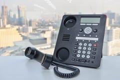 Τηλέφωνο γραφείων - τηλεφωνική τεχνολογία IP για την επιχείρηση Στοκ εικόνα με δικαίωμα ελεύθερης χρήσης