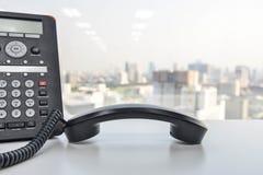 Τηλέφωνο γραφείων - τηλεφωνική τεχνολογία IP για την επιχείρηση Στοκ Εικόνες