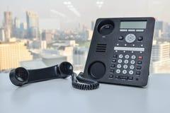 Τηλέφωνο γραφείων - τηλεφωνική τεχνολογία IP για την επιχείρηση Στοκ φωτογραφία με δικαίωμα ελεύθερης χρήσης