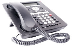 Τηλέφωνο γραφείων IP που απομονώνεται Στοκ φωτογραφία με δικαίωμα ελεύθερης χρήσης
