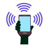 τηλέφωνο εικονιδίων έξυπν&o Στοκ φωτογραφία με δικαίωμα ελεύθερης χρήσης