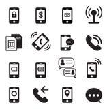 τηλέφωνο εικονιδίων έξυπν&o Στοκ Εικόνες