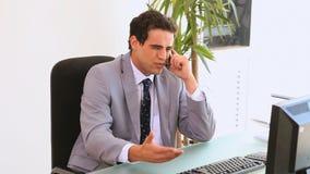 τηλέφωνο επιχειρηματιών απόθεμα βίντεο