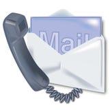 Τηλέφωνο, ηλεκτρονικό ταχυδρομείο και επαφή Στοκ φωτογραφία με δικαίωμα ελεύθερης χρήσης