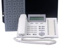Τηλέφωνο και διακόπτης που απομονώνονται Στοκ Εικόνες