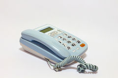 Τηλέφωνο που απομονώνεται μπλε στοκ φωτογραφίες