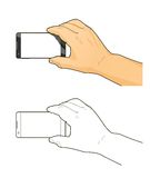 τηλέφωνο χεριών Στοκ εικόνα με δικαίωμα ελεύθερης χρήσης