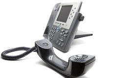 Τηλέφωνο IP με το receiever στο μέτωπο Στοκ φωτογραφία με δικαίωμα ελεύθερης χρήσης