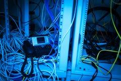 Τηλέφωνο IP στο δωμάτιο δικτύων Στοκ εικόνες με δικαίωμα ελεύθερης χρήσης