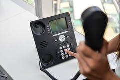 Τηλέφωνο IP - τηλέφωνο γραφείων Στοκ Εικόνες