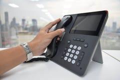 Τηλέφωνο IP - τηλέφωνο γραφείων Στοκ Φωτογραφίες