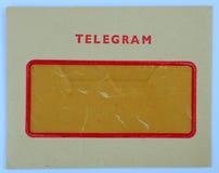τηλεγράφημα - φάκελος στοκ εικόνες με δικαίωμα ελεύθερης χρήσης