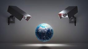 Τηλεοπτικά ζητήματα επιτήρησης και μυστικότητας στοκ φωτογραφίες