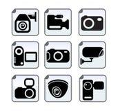 Τηλεοπτικά κάμερα ασφαλείας φωτογραφιών Στοκ Εικόνες