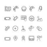 Τηλεοπτικά παιχνίδια, διανυσματικά εικονίδια συσκευών Στοκ φωτογραφίες με δικαίωμα ελεύθερης χρήσης