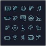 Τηλεοπτικά παιχνίδια και εικονίδια συσκευών Στοκ εικόνες με δικαίωμα ελεύθερης χρήσης