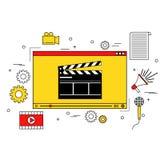 Τηλεοπτική έννοια παραγωγής Στοκ φωτογραφία με δικαίωμα ελεύθερης χρήσης