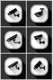 Τηλεοπτική επιτήρηση, κάμερα CCTV Στοκ εικόνα με δικαίωμα ελεύθερης χρήσης
