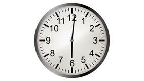 Τηλεοπτική ζωτικότητα Loopable του timelapse του ρολογιού απόθεμα βίντεο