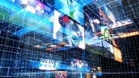 Τηλεοπτική μήτρα τεχνολογίας τοίχων διανυσματική απεικόνιση