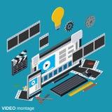 Τηλεοπτική παραγωγή, έκδοση, διανυσματική έννοια montage ελεύθερη απεικόνιση δικαιώματος