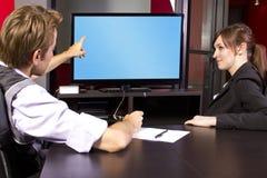 Τηλεοπτική παρουσίαση στοκ εικόνα με δικαίωμα ελεύθερης χρήσης