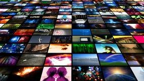 Τηλεοπτική ροή μέσων τοίχων (HD) ελεύθερη απεικόνιση δικαιώματος
