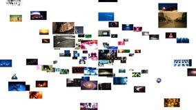 Τηλεοπτική ροή μέσων τοίχων (HD) διανυσματική απεικόνιση