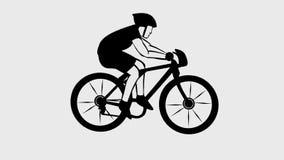 Τηλεοπτικός αγώνας ποδηλάτων απόθεμα βίντεο