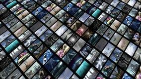 Τηλεοπτικός τοίχος, διαγώνια Στοκ Εικόνες
