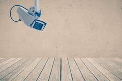 τηλεοπτικός τοίχος συστημάτων ασφαλείας φωτογραφικών μηχανών Στοκ Εικόνα