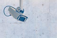 τηλεοπτικός τοίχος συστημάτων ασφαλείας φωτογραφικών μηχανών Στοκ Εικόνες