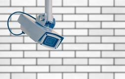 τηλεοπτικός τοίχος συστημάτων ασφαλείας φωτογραφικών μηχανών Στοκ Φωτογραφίες