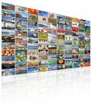 Τηλεοπτικός τοίχος της οθόνης TV Στοκ Φωτογραφίες